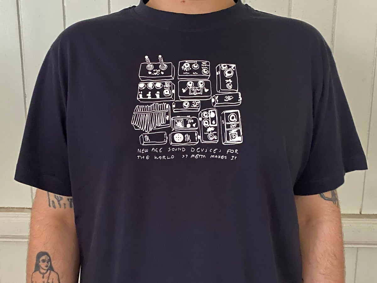 Image of Metta Audio Devices New Age  T-Shirt Navy