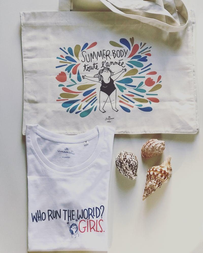 Image of Duo T-Shirt femme + Sac shopping - THE SIMONES X MATHOU