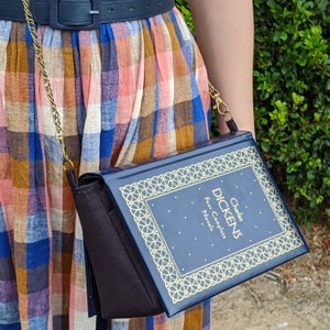Image of Charles Dickens Navy Book Purse
