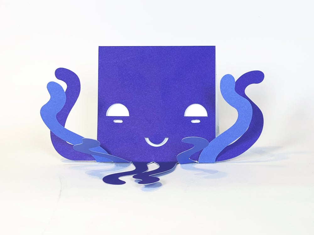 Image of Two Octopus Cards - Multi-handed Wave Hallo!