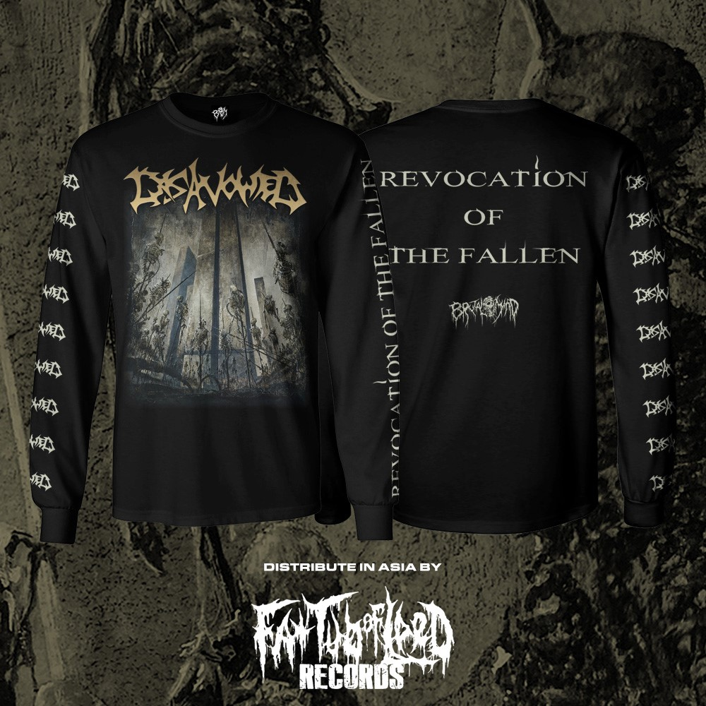 """Image of Officially Licensed Disavowed """"Revocation of the Fallen"""" Cover Art Short and Long Sleeeve shirts!"""