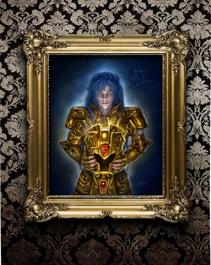 """Image of Gemini SAGA """"the  redemption"""" limited of 10 prints on fine art canvas"""