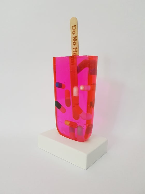 Image of MISS BUGS - DO NO HARM (PINK PILLS) - SCULPTURE