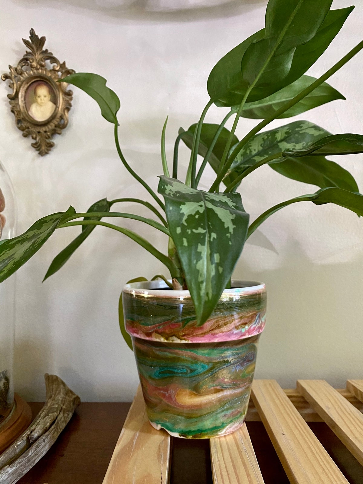 Image of Weather Pots - Emerald Green, Pink and Gold
