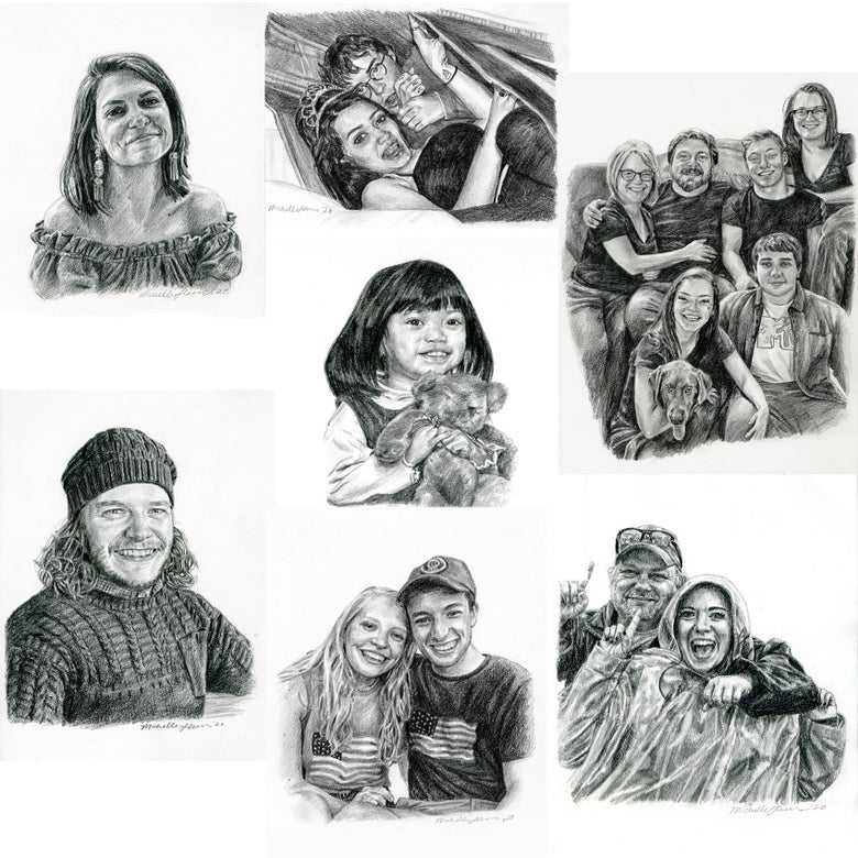 Image of Personal Graphite Portrait Commission