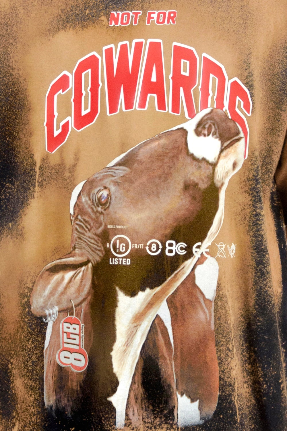 N4 COWARDS COW t-shirt bleached