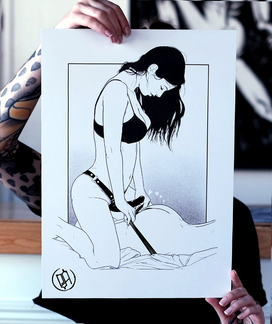 Image of PRINT - FIRST TIME - BY SAD AMISH TATTOOER
