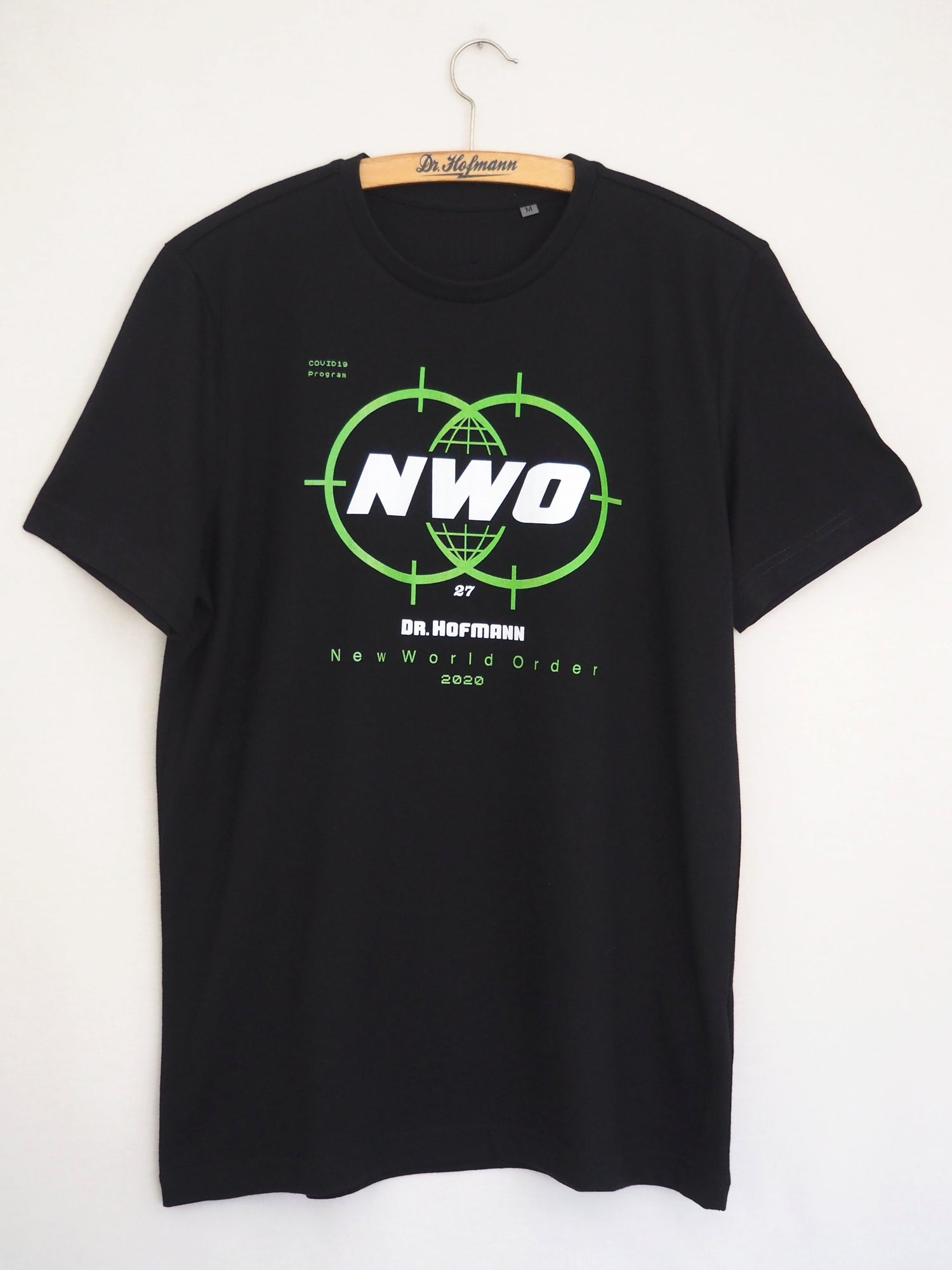 """Image of """"NEW WORLD ORDER"""" tee  - Special Edition/Covid19 - Organic cotton - Black"""
