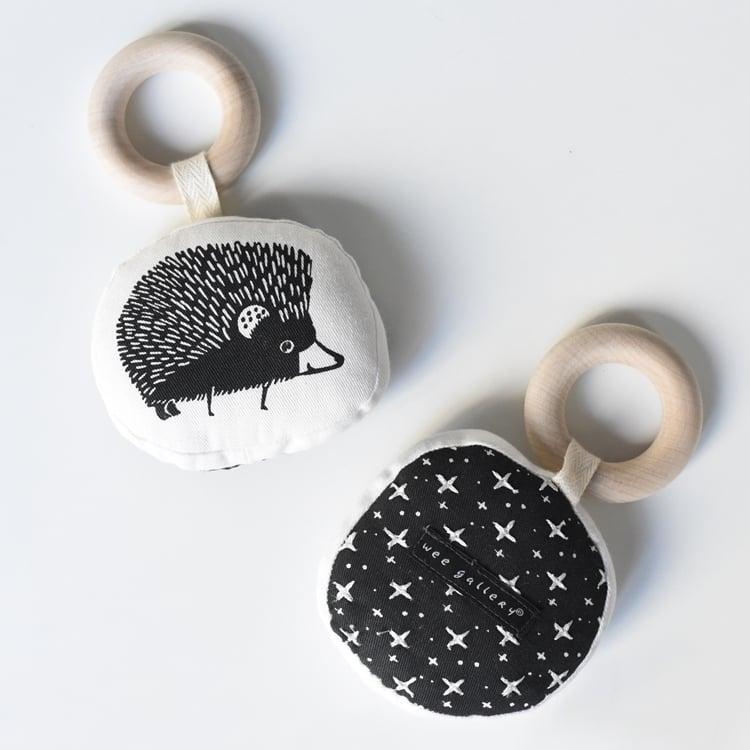 Image of Wee Gallery Organic Cotton Hedgehog Teether