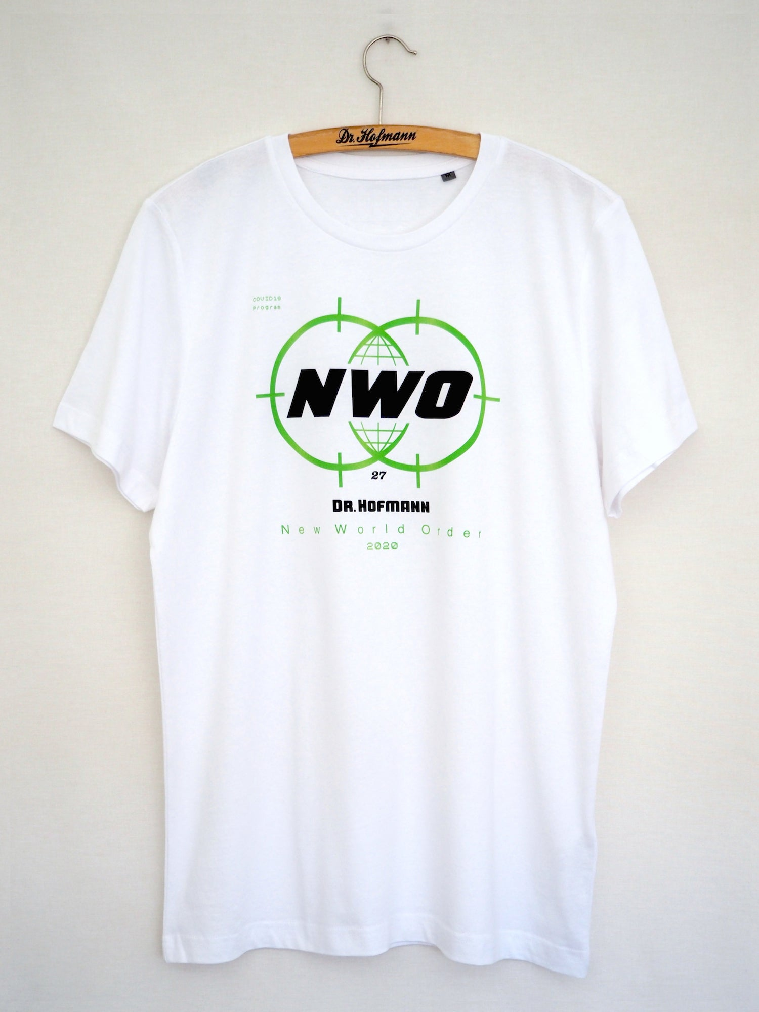 """Image of """"NEW WORLD ORDER"""" tee - Special Edition - Organic cotton - White"""