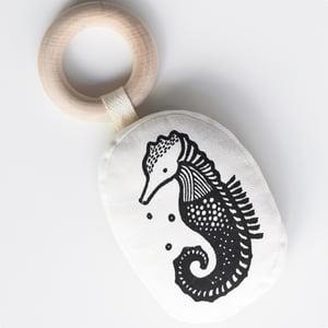 Image of Wee Gallery Organic Seahorse Teether