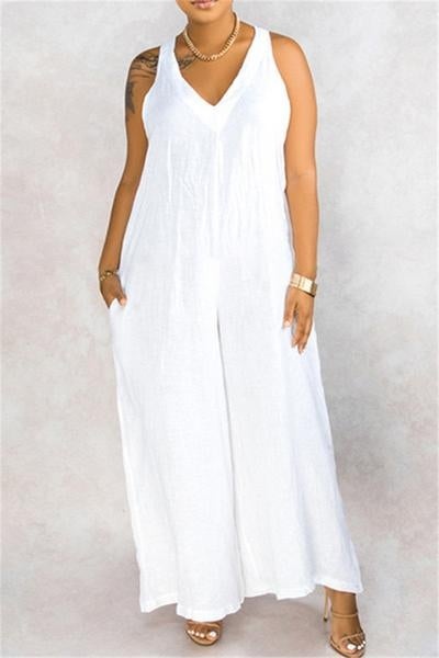 Image of Wide Leg Jumpsuit