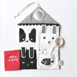 Image of Wee Gallery Peek A Boo Pets Activity Pad