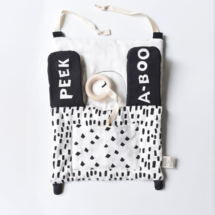 Image of Wee Gallery Peek a Boo Panda Activity Pad