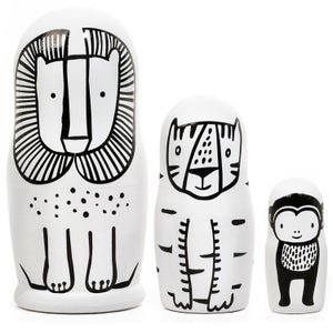 Image of Wee Gallery Wild Nesting Dolls