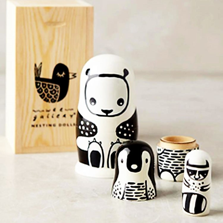 Image of Wee Gallery Black & White Nesting Dolls