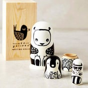 Image of Wee Gallery Black & White Nesting Dolls