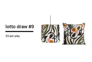 Image of Lotto Draw #9 Cove Cushion + Lampshade