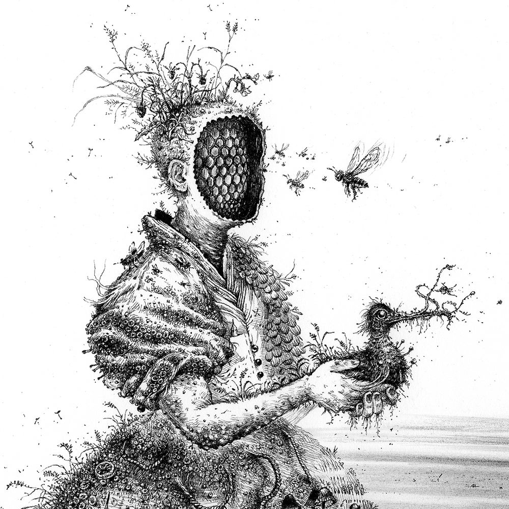 Image of Honeycomb Bride - Limited Edition Print + Stickers