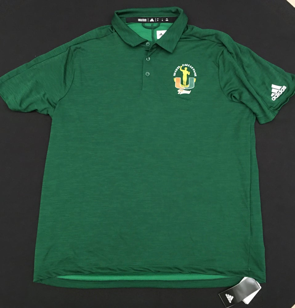 Image of Men's Green Addidas Polo Golf Shirt
