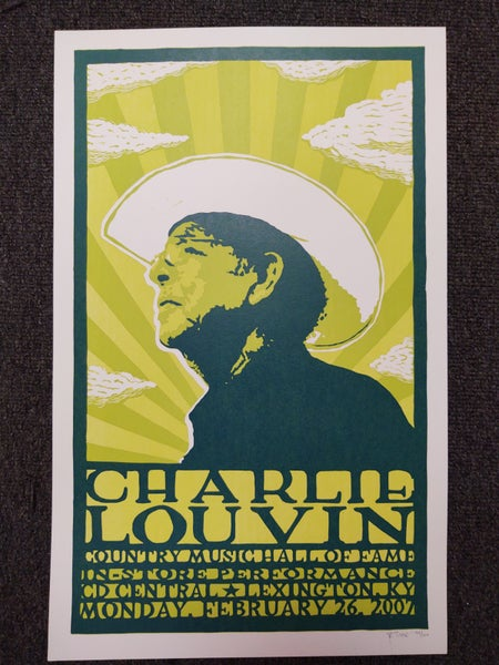 Image of Charlie Louvin Screenprint Poster