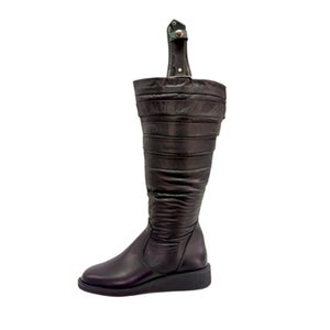 Image of CARADUN with or w/out CYLS BLACK LEATHER BOOTS