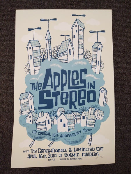 Image of Apples in Stereo Screenprint Poster / CD Central 15th