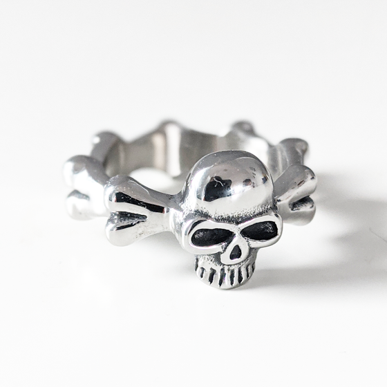 Image of Skull and Bones Ring