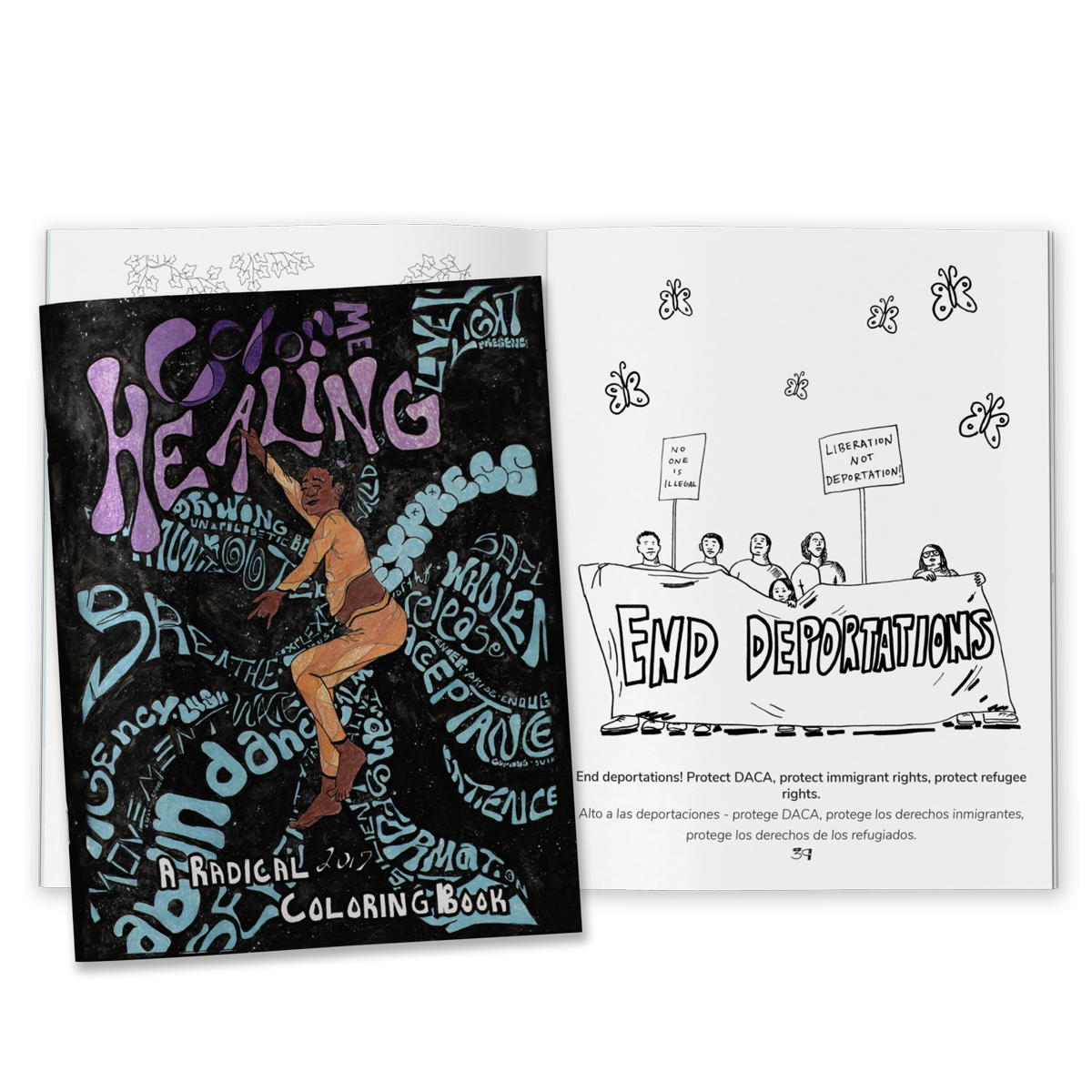 Image of Color Me Healing: A Radical Coloring Book (HARDCOPY)