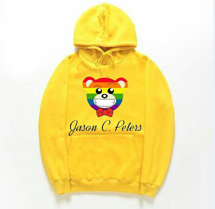 Image of Yellow Equality Bear Hoodie