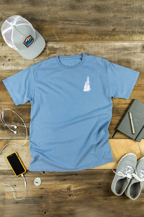 Image of NH Homegrown- Washed Denim T-Shirt