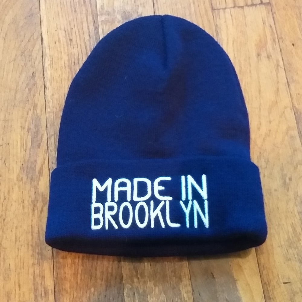 Image of Made In Brooklyn beanie w/ high density embroidery