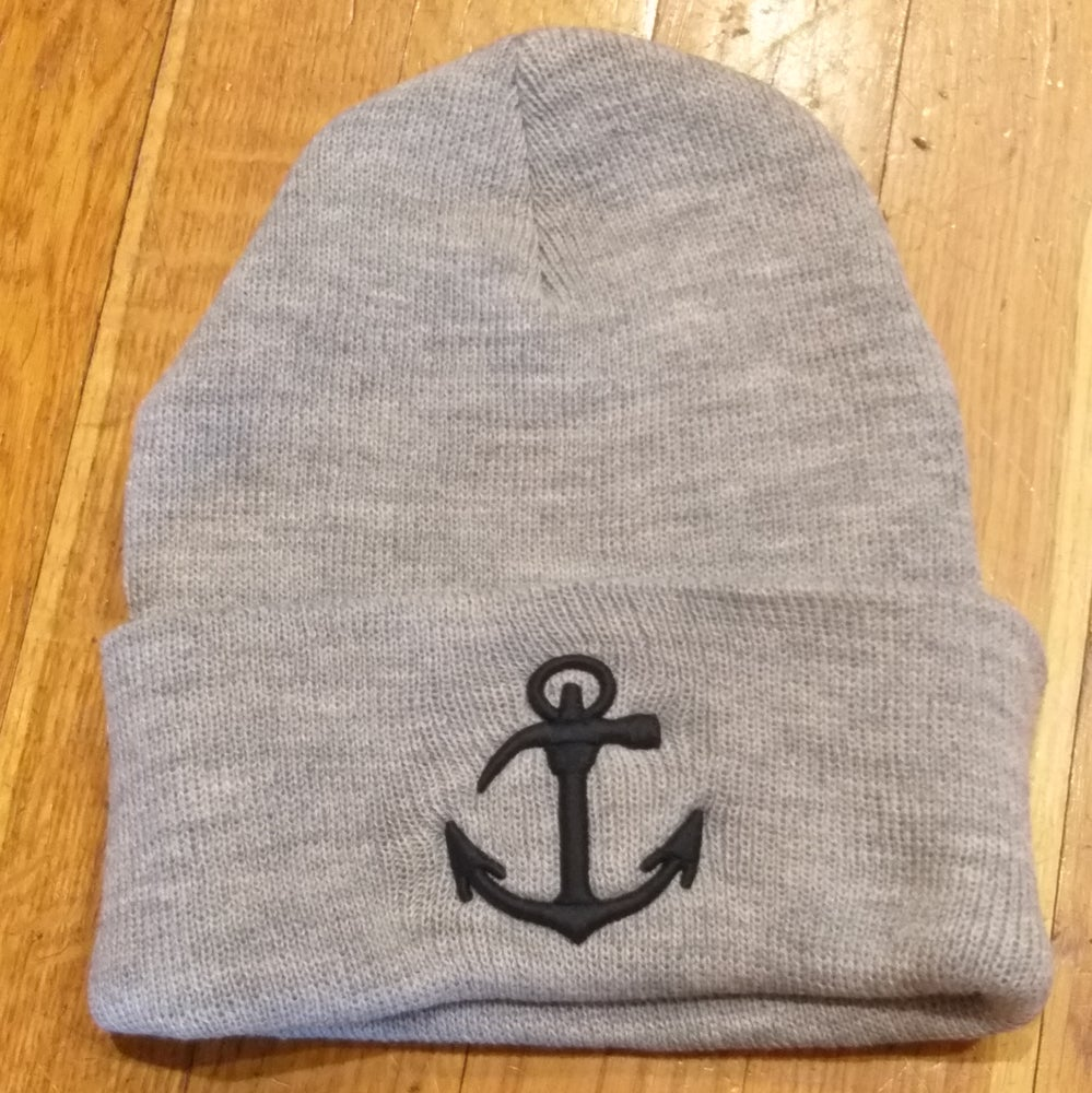 """Image of Made In Brooklyn """"The Original"""" Anchor  beanie w/ high density embroidery"""