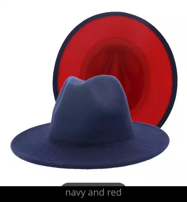 Image of Angela Red Bottom Fedora