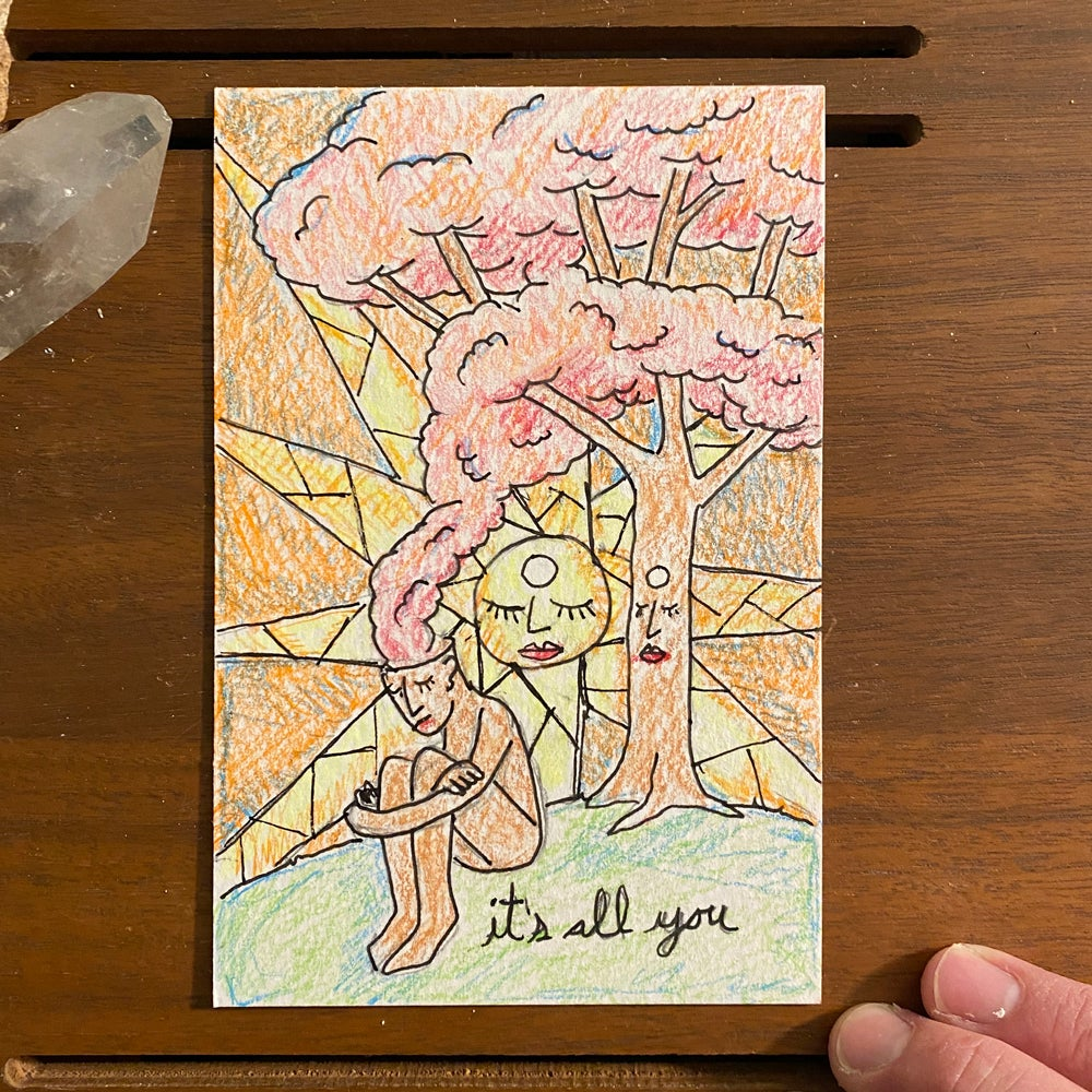 Image of it's all you (mail art)