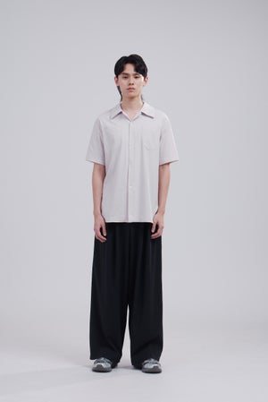 Image of TRAN - 開領休閒短袖襯衫 (卡其)