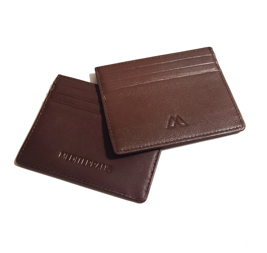 Image of Brown Card Holder