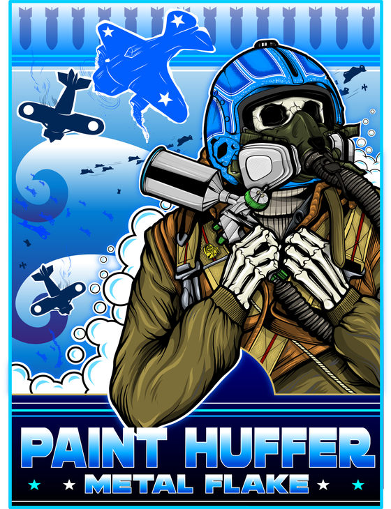 Image of PAINTHUFFER F-BOMB BANNER - BLUE COLOR-WAY