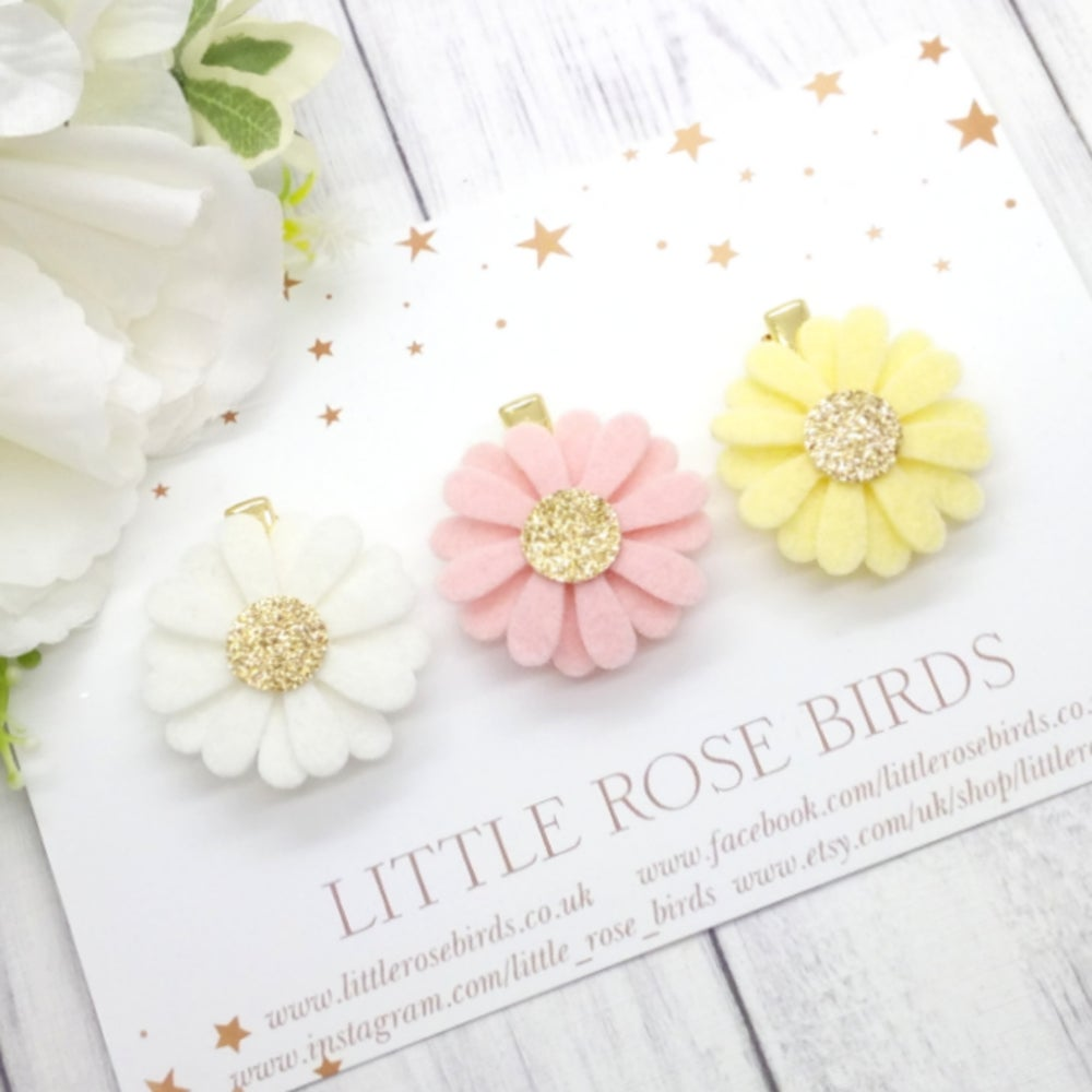 Image of CHOOSE YOUR COLOUR -  Single Daisy Headband or Clip - Choice of 52 Colours