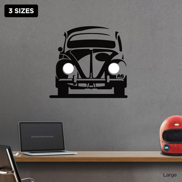 Image of 1950's - 60's BEETLE TRIBUTE WALL DECAL