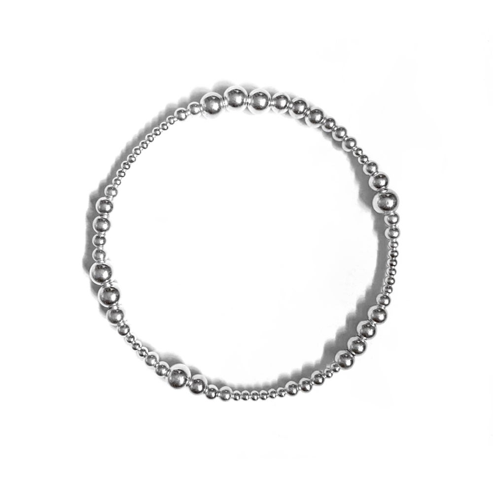 Image of Sterling Silver Boho Stacking Bracelet