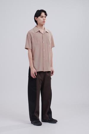 Image of TRAN - 開領休閒短袖襯衫 (啡)