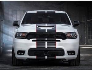 "Image of Dodge Durango REAR Blackout ""DURANGO"" nameplate badge emblem • OEM • Gloss or Satin Black"