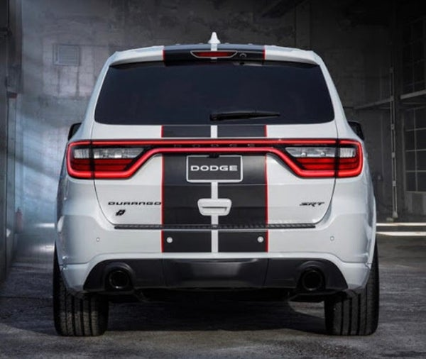 "Image of Dodge Durango REAR Blackout ""DODGE"" nameplate badge emblem • OEM • Gloss or Satin Black"