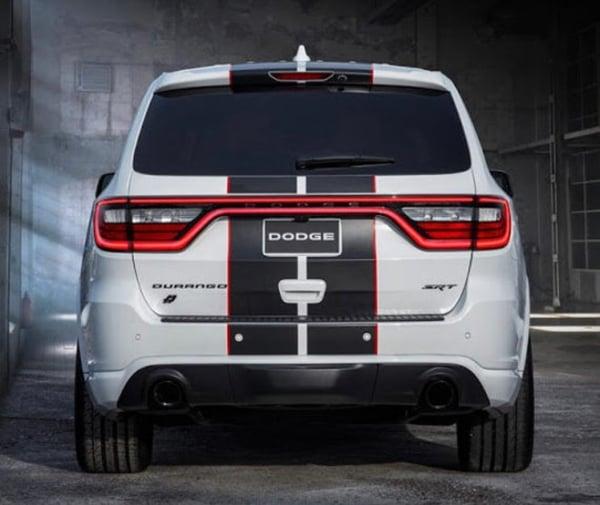 """Image of Dodge Durango REAR Blackout """"DODGE"""" nameplate badge emblem • OEM • Gloss or Satin Black"""