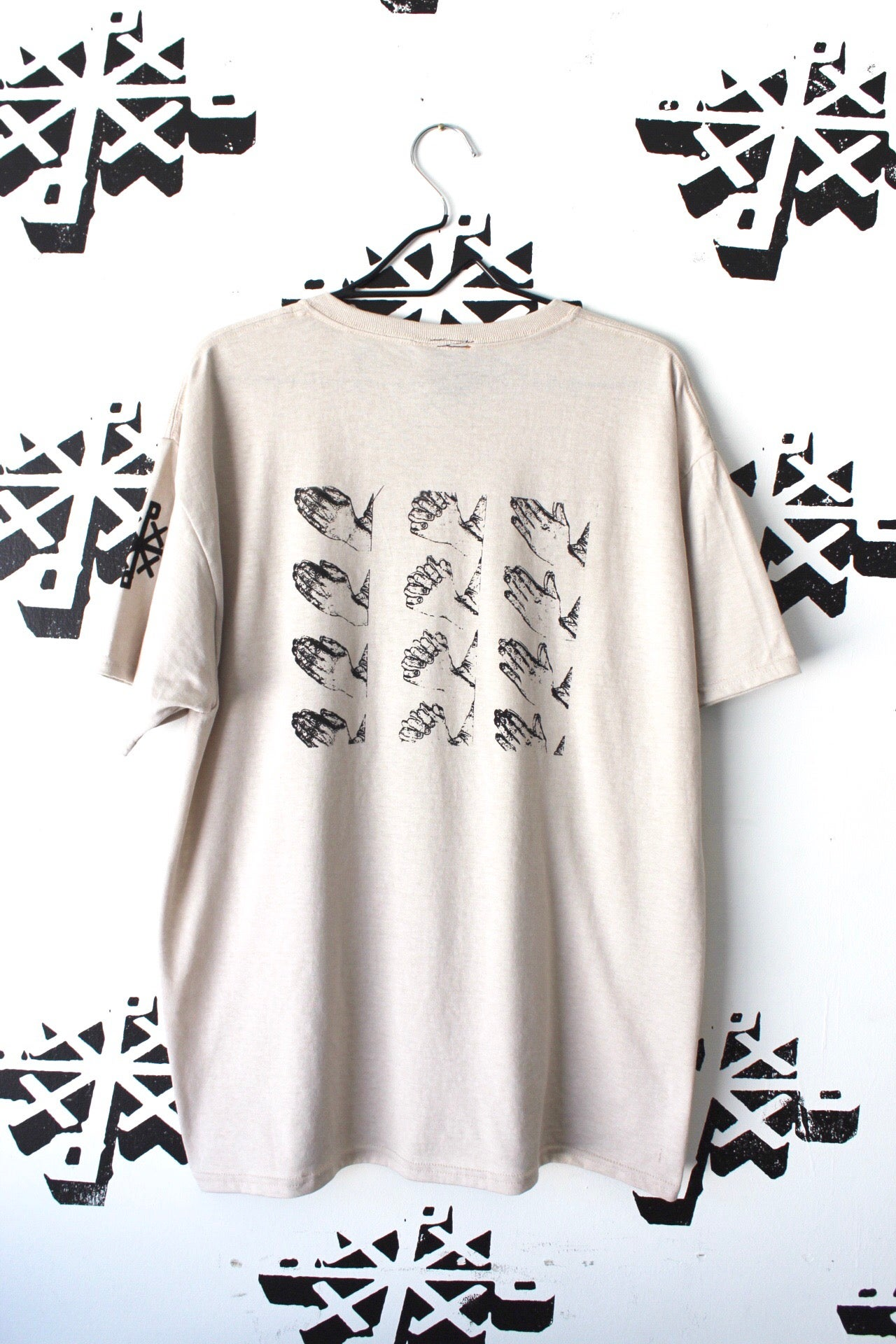 Image of let me handle it tee in sandstone