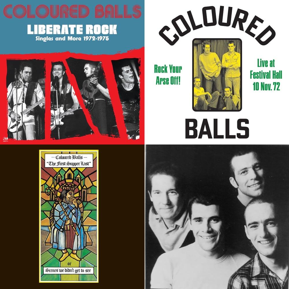 """Image of COLOURED BALLS """"Triple Decker"""" bundle 3 LPs black vinyl"""