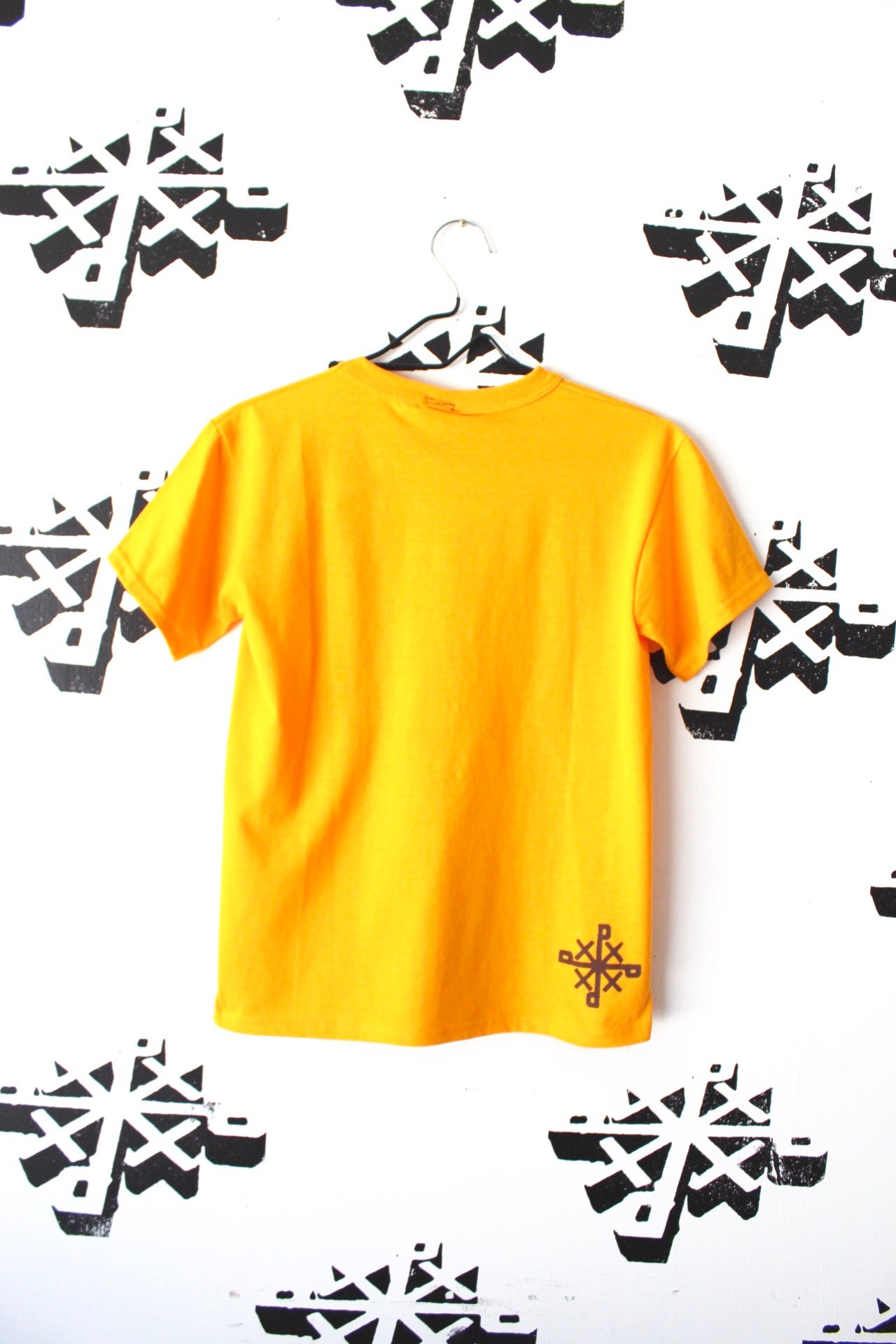 Image of post up tee in gold