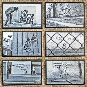 Image of Banksy - 22 x classic Black & White street art photos (2006- 2012)