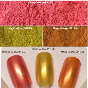 Image of Yellow/Orange Pearl Pigments </p> 11 Colors Available